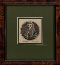 Sale 8934H - Lot 63 - A framed engraving of the Earl of Hardwicke, frame size 28cm x 30cm