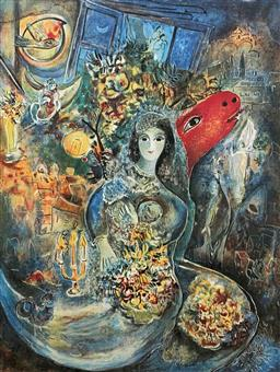 Sale 9108A - Lot 5015 - Marc Chagall (1887 - 1985) - Bella 85 x 62 cm (sheet)