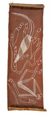 Sale 8297 - Lot 598 - Artist Unknown (XX) - Mimi and Goanna 55.5 x 18cm