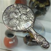 Sale 8362 - Lot 23 - Sterling Silver Angel Mirror
