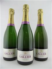 Sale 8411 - Lot 636 - 3x NV Lallier Grand Dosage Grand Cru Brut, Champagne