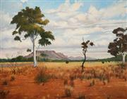 Sale 8675 - Lot 589 - James Frederick Hays (1925 - ) - View to Burt Bluff, Alice Springs, 1989 105 x 135cm