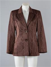 Sale 8685F - Lot 1 - A Valentino Miss V printed wool-blend blazer, size 42/8