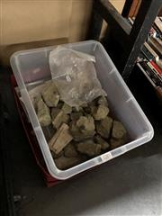 Sale 8789 - Lot 2281 - Two Boxes of Rocks & Fossils