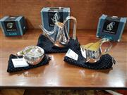 Sale 8822 - Lot 1061 - Alessi Piazza Oronda Silver & Gold Plated Coffee & Tea Service