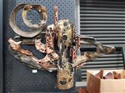 Sale 8908 - Lot 1009 - Vintage Metal Wall Mount Abstract Sculpture