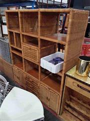 Sale 8912 - Lot 1065 - Large Wicker Wall Unit
