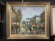 Sale 8978 - Lot 2007 - Henri Rogers Autumn Paris Street Scene acrylic on board, 64 x 73 cm (frame), signed