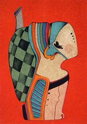 Sale 9032A - Lot 5076 - Mikhail Chemiakin (1943 - ) - Metaphysical Mask 64.5 x 46 cm (sheet: 76 x 54 cm)
