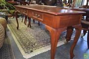 Sale 8390 - Lot 1309 - Long 3 Drawer Hall Table