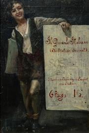 Sale 8467 - Lot 574 - Early C20th Australian School - The Italian Journal 50 x 32cm