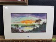 Sale 8544 - Lot 2040 - Stephen Mann - From the North Head, Lion Island 20.5 x 37cm