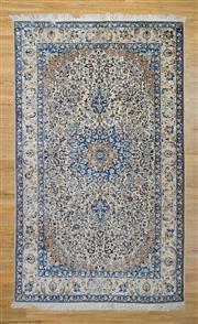 Sale 8576C - Lot 44 - Persian Nain Silk & Wool 281cm x 167cm
