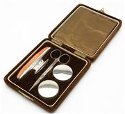 Sale 8575J - Lot 32 - Cased Sterling Silver manicure set, hallmarked Birmingham 1922