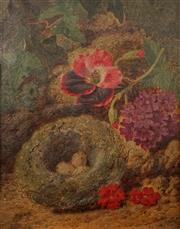 Sale 8606 - Lot 578 - Thomas Worsey (1829 - 1875) - Birds Nest 24 x 19cm