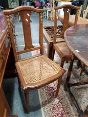 Sale 8697 - Lot 1018 - Set of Six French Dining Chairs with Rattan Seat