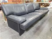 Sale 8723 - Lot 1084 - Anibou Black Leather Three Seater Sofa