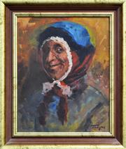 Sale 8762 - Lot 2085 - Zoltan Fenyes (1924 - 1997) Fortune Teller oil on board, 47 x 37cm, signed lower right -