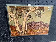 Sale 8895 - Lot 2095 - Cole Brown - Central Australian Landscape, 1994, original painting on board, signed and dated lower right -