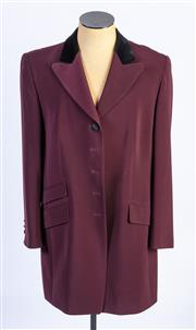 Sale 8926H - Lot 27 - A BASLER button up blazer with black velour detail to collar and buttons, size 16