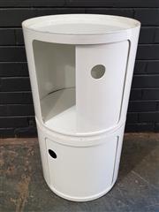 Sale 8979 - Lot 1067 - Pair of Drum Form Side Tables (H:40 D:40cm)