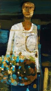 Sale 9001 - Lot 592 - Artist Unknown - Untitled (Artist Portrait) 1963 79 x 44.5 cm (frame: 88 x 53 x 2 cm)