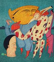 Sale 9032A - Lot 5077 - Mikhail Chemiakin (1943 - ) - Looking for the Dance 51 x 44.5 cm (sheet: 76 x 54 cm)