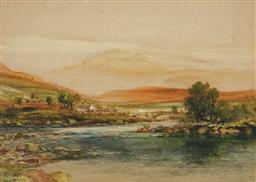 Sale 9047A - Lot 5056 - William Joseph Wadham (1864 - 1950) - River & Landscape, 1930 27 x 37.5 cm (frame : 44 x 54 x 4 cm)