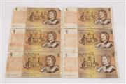 Sale 9052 - Lot 141 - Six Australian $1 Banknotes