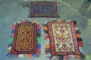 Sale 8361 - Lot 1071 - Three Persian Door Mats (Approx. 80 x 40cm)
