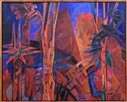 Sale 8408 - Lot 506 - Anneke Silver (1937 - ) - Sunrise at Split Rock - QLD 122 x 152cm