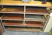 Sale 8431 - Lot 1005 - Vintage Timber Industrial Shoe Rack