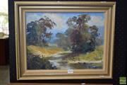 Sale 8506 - Lot 2045 - Desirie Bogart, Oil on Canvas Board, Summer Sky, 26x39cm, Signed