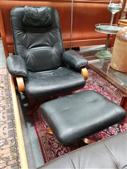 Sale 8688 - Lot 1045 - Arflex Swivel Chair & Foot Stool (2)