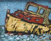 Sale 8708A - Lot 559 - David Bromley (1960 - ) - Boat V 23.5 x 29cm