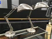Sale 8795 - Lot 1006 - A pair of steel modernist angle-poise lamps