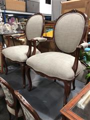 Sale 8822 - Lot 1700 - Set of Seven French Style Framed Dining Chairs
