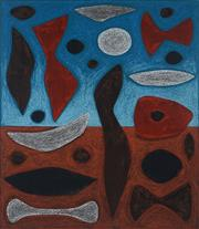 Sale 8980A - Lot 5002 - John Coburn (1925 - 2006) - Desert Totems, 1994 37 x 31.5 cm (frame: 67 x 60 x 5 cm)