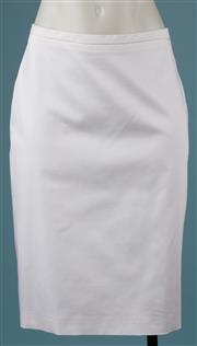 Sale 9090F - Lot 52 - A MAX MARA WHITE SKIRT; new with labels, style Sondrio, 96% cotton 4% elastan, size US 12 GB 14 FR 44.