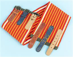 Sale 9092F - Lot 70 - A SET OF THREE THICK WOMENS BELTS; with an example by Jodi Lee (all size small)
