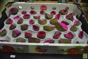Sale 8347 - Lot 1080 - Tray of Red / Pink Split African Geodes