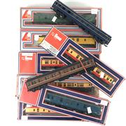 Sale 8545N - Lot 166 - Collection of Mostly Lima Model Train Carriages