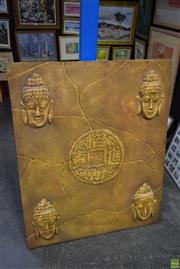 Sale 8573 - Lot 2086 - Buddha Themed Canvas Artwork, 120 x 90cm