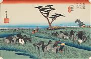 Sale 8838A - Lot 5189 - After Hiroshige - Chiryu (from Fifty-three Stages of the Tokaido) 22.5 x 35cm