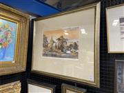 Sale 9041 - Lot 2016 - Kenneth Jack, Old buildings of Australia, no.11, Church at Carcoar), colour lithograph ed.29/100, frame size: 65 x 77cm, signed lower