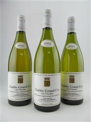 Sale 8411 - Lot 670 - 3x 2011 Domaine Gouailhardou Les Preuses Grand Cru, Chablis