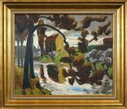 Sale 8459 - Lot 589 - Ulrik Hendriksen (1891 - 1960) - Ny- Heelesund 49 x 60cm