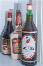 Sale 8486A - Lot 81 - 3 x bottles including; Jamaican Coffee Liqueur, Black Rum by Bardonet, & a Hiram Walker Swiss Chocolate Almond Liqueur