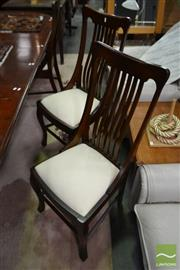 Sale 8515 - Lot 1074 - Set of 6 Timber Dining Chairs