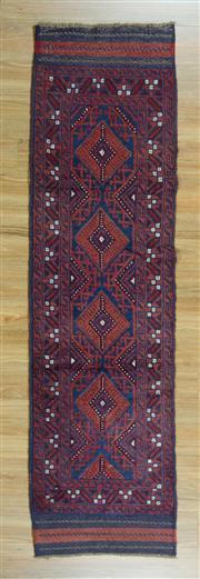 Sale 8625C - Lot 16 - Persian Baluchi Runner 237cm x 67cm